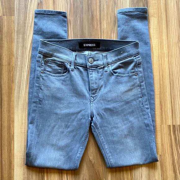 Express Denim - Express Gray Stretch Legging Jeans
